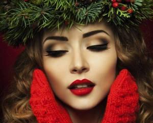 labbra rosse, makeup capodanno