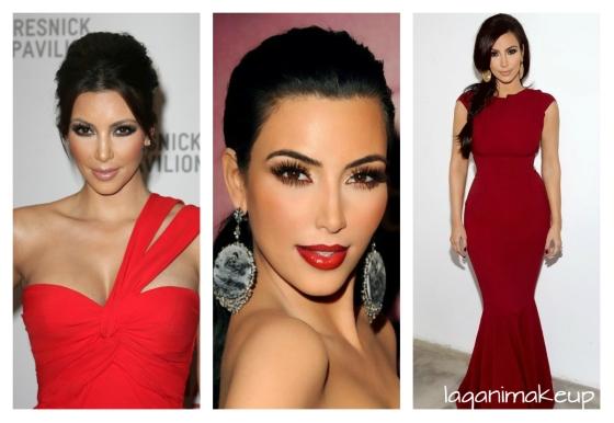 makeup abito rosso